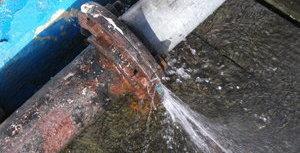 Water Damage Pocahontas Pipe Burst Outside