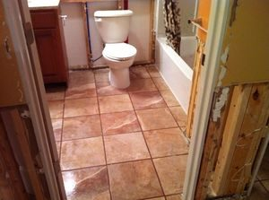 Floodwater and Mold Removal In Bathroom